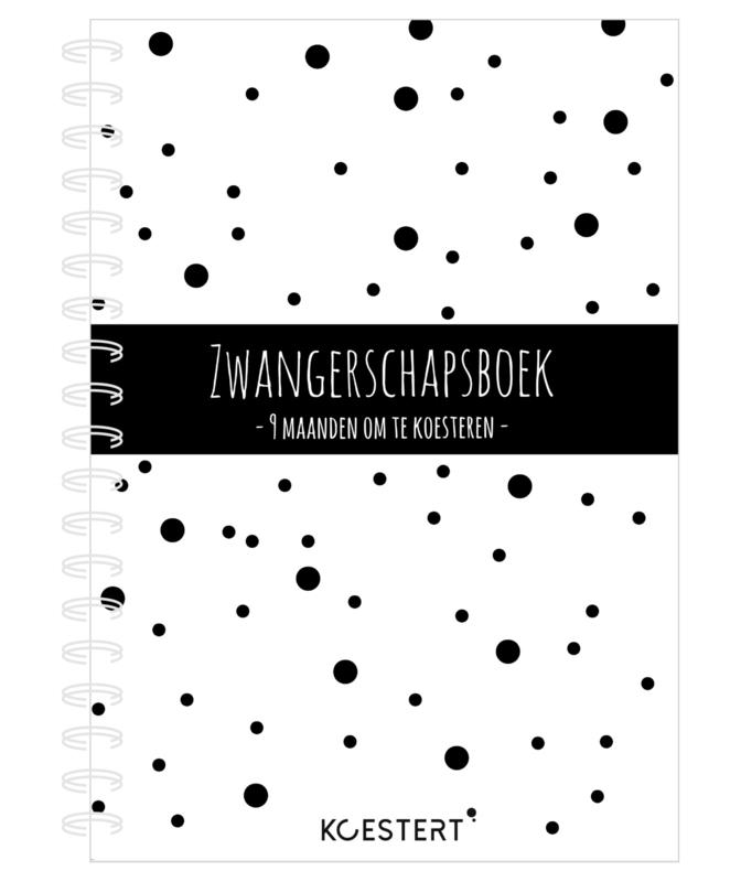 9 maanden boek - zwangerschapsboek (zwart-wit)