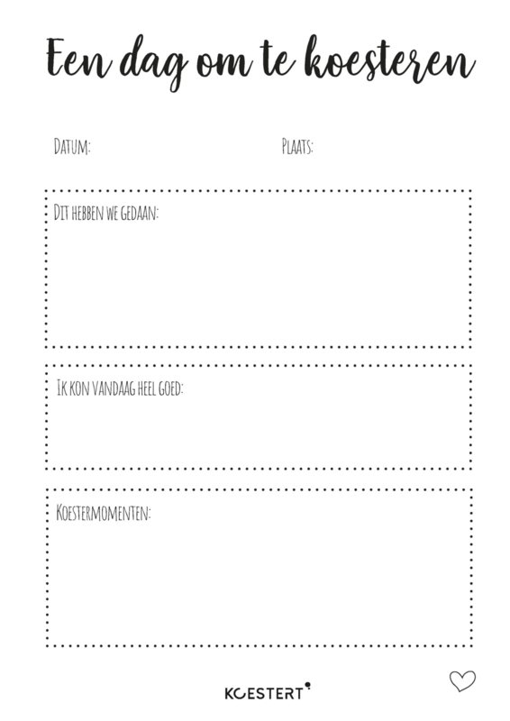Invul(dag)boek/oppasboek   free printable