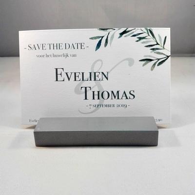 Save the Date kaart thema olijftakjes