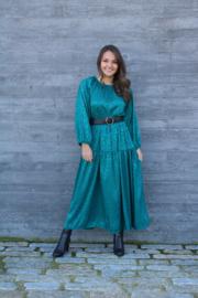 GREEN TIGERPRINT MAXI DRESS
