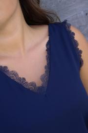 Blue V-Neck Top