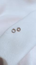 LILAC CIRCLE EARSTUD - GOLD