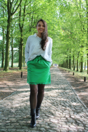 GREEN SKIRT WITH LACE