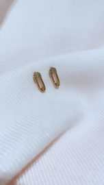 SAFETY PIN EARSTUD - GOLD