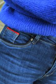 Skinny jeans met zwart detail