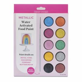 Edible art metallic colours paint palette XL