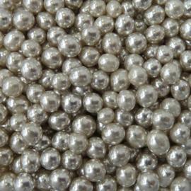 Metallic parel zilver 4 mm