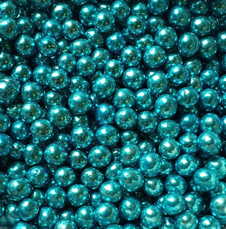 Metallic parel blauw 4 mm