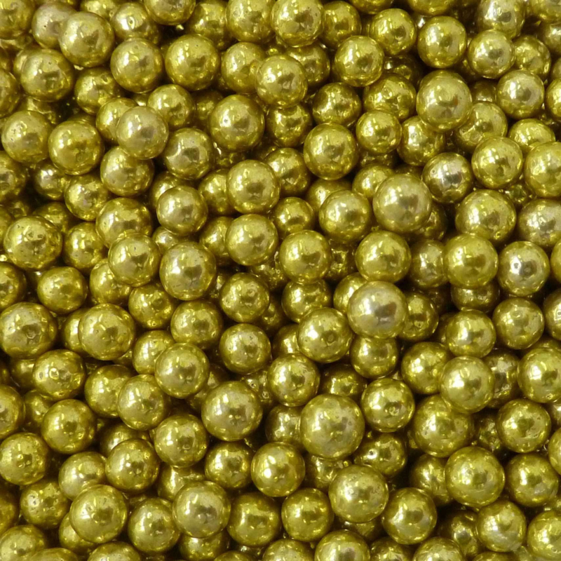 Metallic parel goud 4 mm