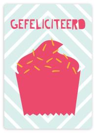 Wenskaart - Cupcake