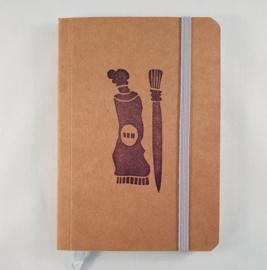 A6 notitieboekje - Verf en kwast