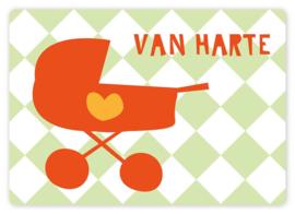 Wenskaart - Kinderwagen