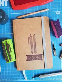 A6 notitieboekje - Pen en potlood