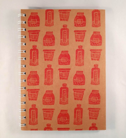 A5 notitieboekje - Potten en flessen