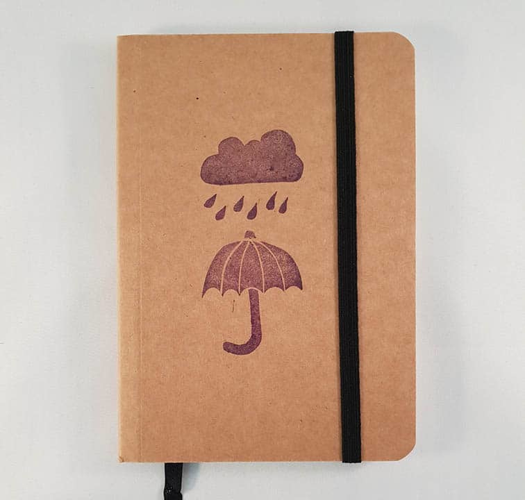 A6 notitieboekje - Wolk en paraplu