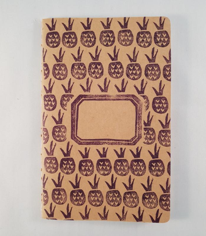 A6 schriftje - Ananasjes