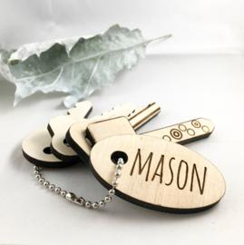 Houten sleutels