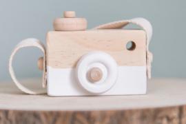 Houten camera wit