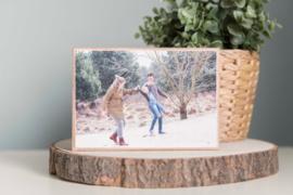 "Foto op hout 10*15 cm ""RECHT"""