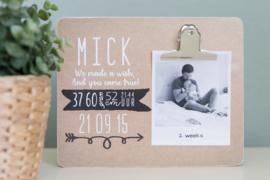 gepersonaliseerd geboorte clipboard