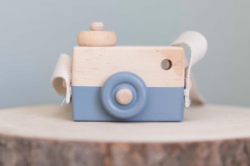 Houten camera grijs