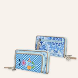 Portemonnee met telefoonvak Yucatan blauw