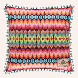 Kussen 48 x 48 cm Yucatan wit/multi