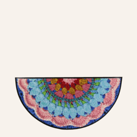 Deurmat crochet halfrond 42 x 85 cm