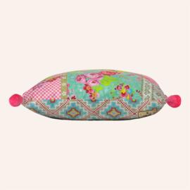 Kussen 48 x 48 cm Paradise aqua/roze