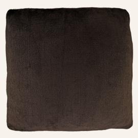 Kussen Polyvelvet 40 x 40 cm bruin/multi