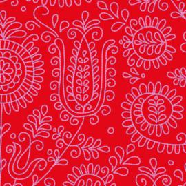 Behang Stitchie Red