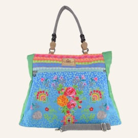 Beachbag XL Wild Rose Turqoise