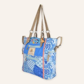 High shopper Yucatan blauw