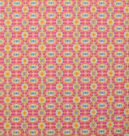 Stof  Zosia roze/oranje