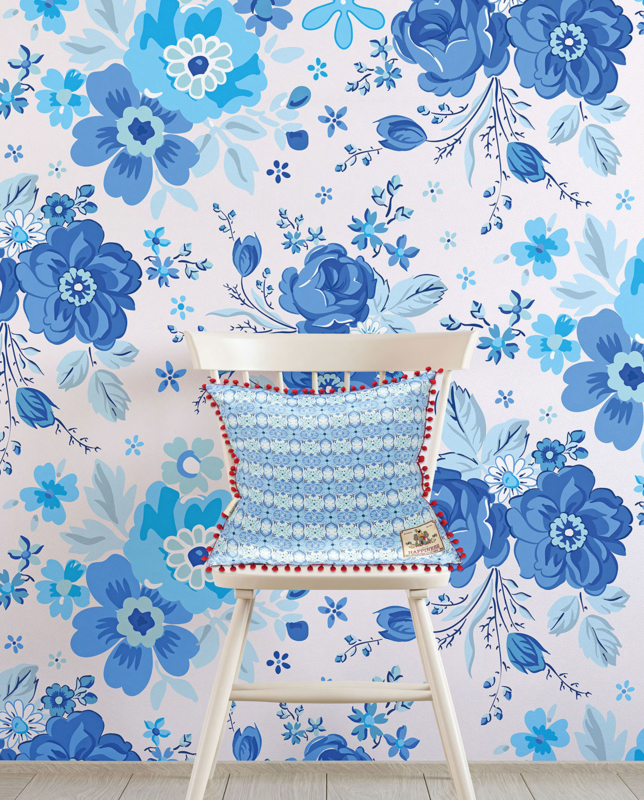 Behang Rosita Blue