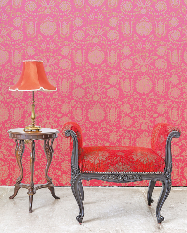 Behang Stitchie Ombre Red
