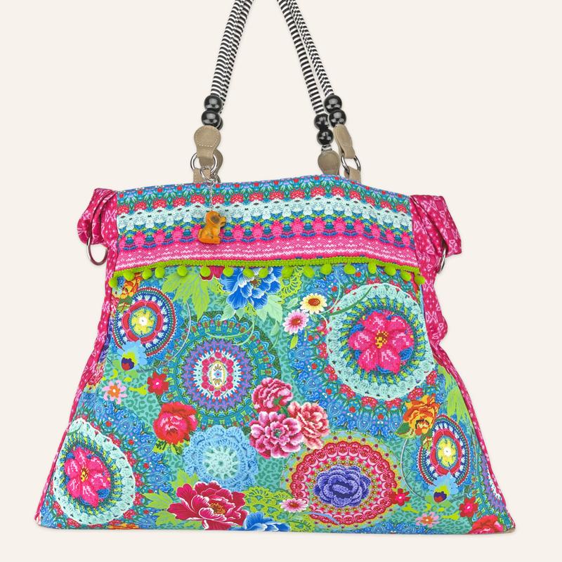 Beachbag XL Kaleido Groen
