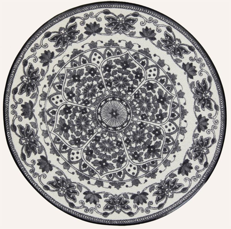 Vloermat Zimra Antraciet rond 115 cm