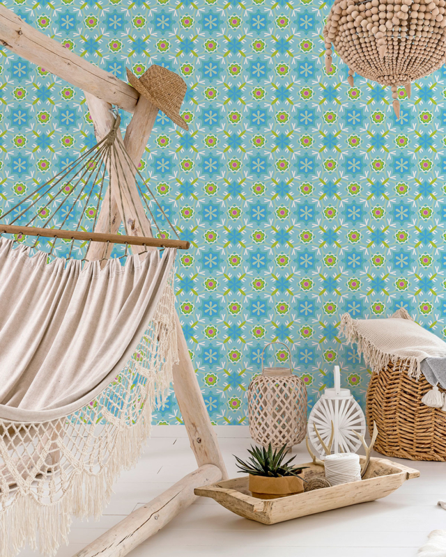 Behang Marybelle Aqua