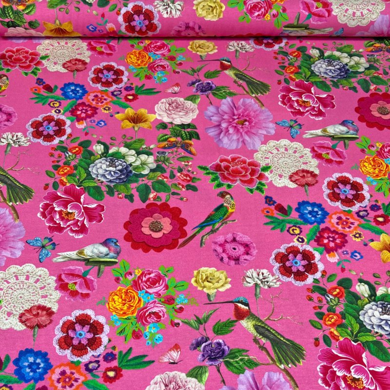Tricot Botanica roze