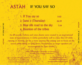 If you say so - Astah (Alexander Gustave)