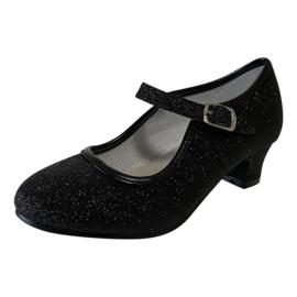 Spaanse schoenen zwart glitter