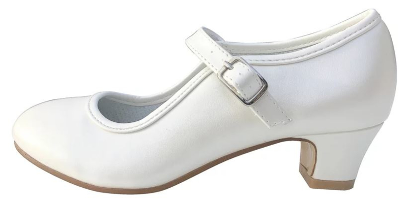 Flamenco shoes ivory white