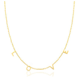 "KETTING ""LOVE"" GOLD"
