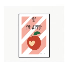 My eye apple - Ansichtkaart