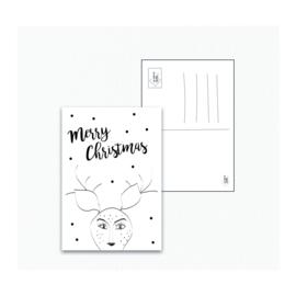 Rendier kerst - Ansichtkaart