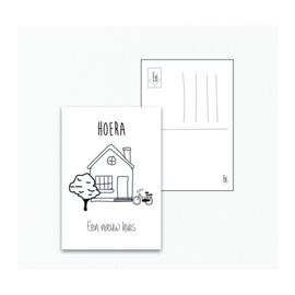 Hoera een nieuw huis - Ansichtkaart