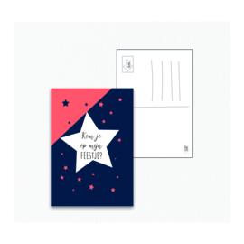 Ansichtkaart - Uitnodiging feestje