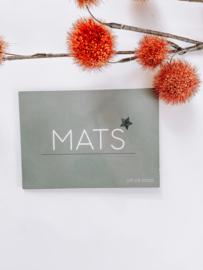 Geboortekaartje Mats