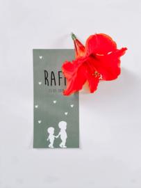Geboortekaartje Raff